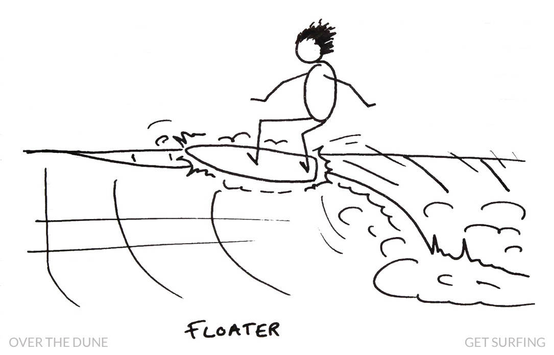 Stick Man Surfer Slang Floater