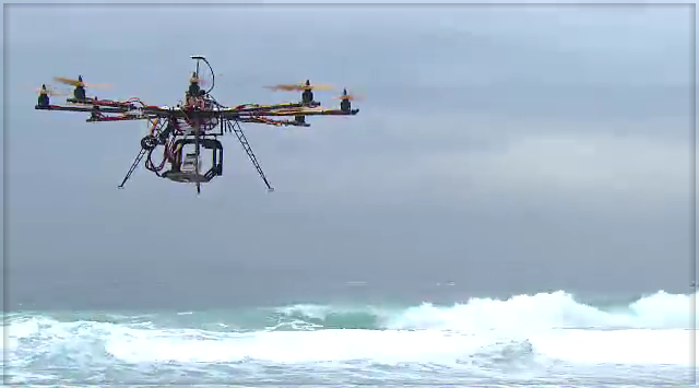 Helicopter Camera - Surfing Competition