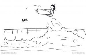 Surfer Stick Man Air Aerial Definition