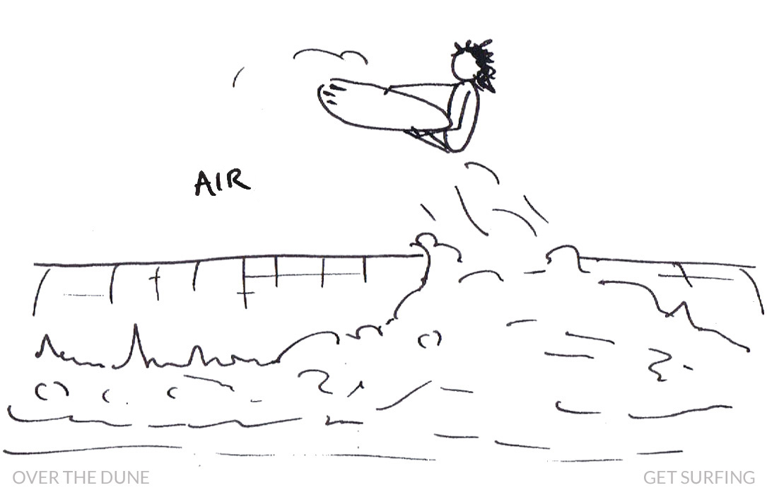 Surfer Stick Man Air Aerial Definition