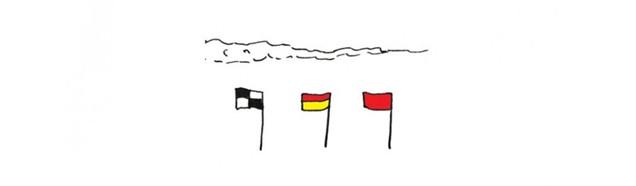 Lifeguard Beach Safety Flags