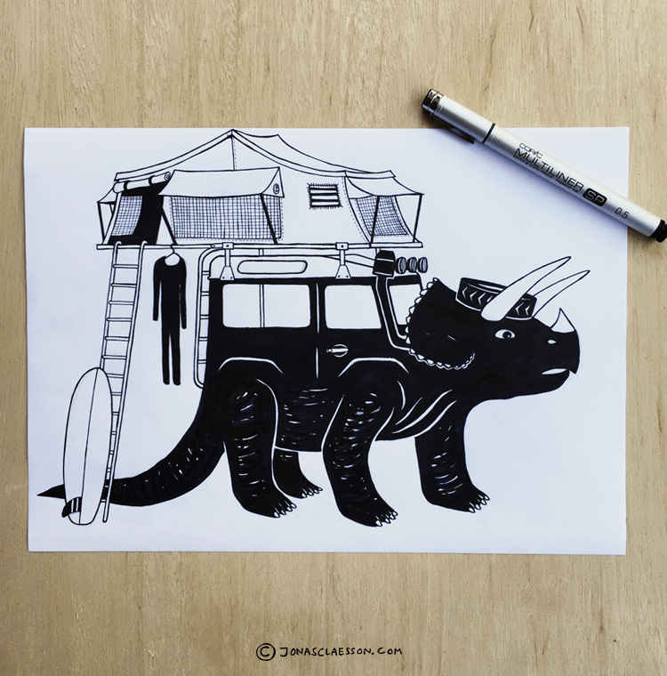 Jonas Claesson Triceratops-Defender-illustration