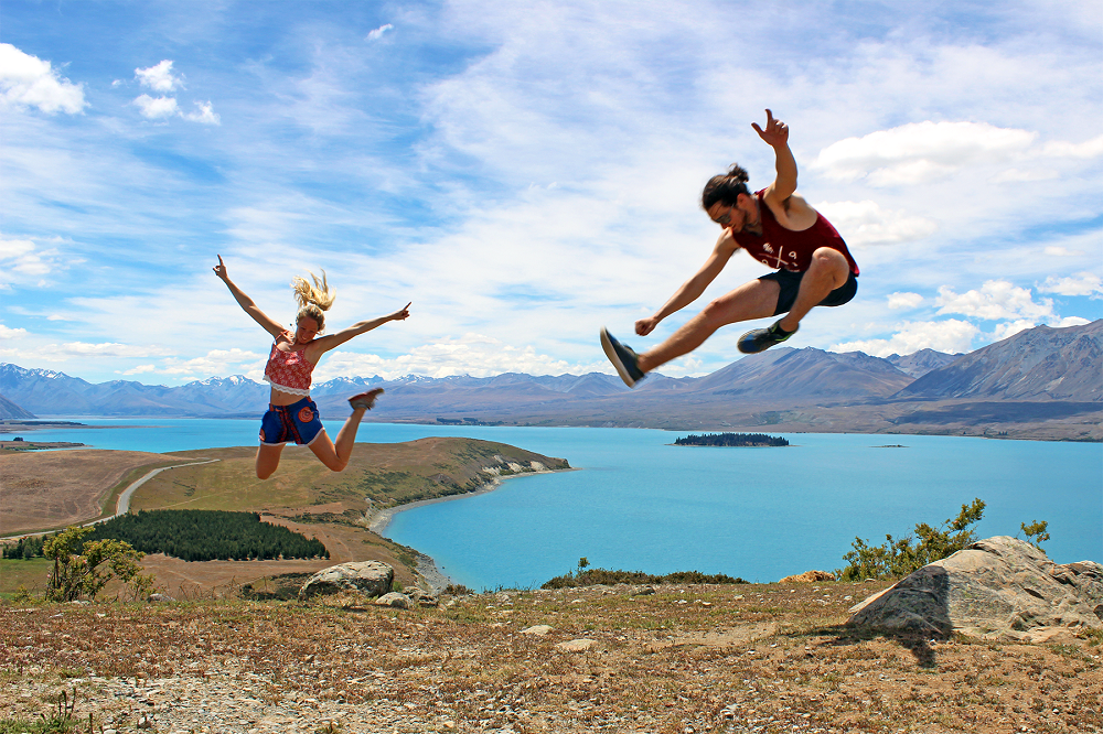 Tekapo Jumping Christmas Day