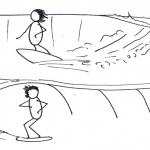 Goofy Or Regular Stances Surfing Over The Dune Stick Man