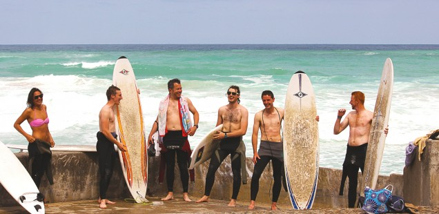 Biarritz Surfers laughing